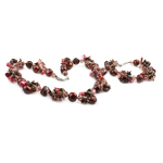 Sets bizhuteri kristal, Pearl kulturuar ujërave të ëmbla, with Kristal, ngjyra të përziera, 11-14mm, 8x6mm, :18Inç,  7.5Inç,  I vendosur