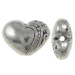 Beads Zink Alloy Zemra, Alloy zink, Zemër, Ngjyra antike argjendi praruar, asnjë, , nikel çojë \x26amp; kadmium falas, 10x7x5mm, : 1mm, 1110PC/Qese,  Qese