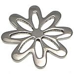 Stainless Steel Connector, Lule, argjend, 20x20x1.50mm, 30PC/Shumë,  Shumë