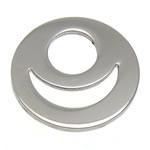 Pendants Stainless Steel bizhuteri, Round Flat, 15x15x1mm, : 6mm, 100PC/Shumë,  Shumë