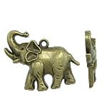 Zinklegierung Tier Anhänger, antike Bronzefarbe plattiert, frei von Nickel, Blei & Kadmium, 38x30x5mm, Bohrung:ca. 2.5mm, ca. 170PCs/Tasche, verkauft von Tasche