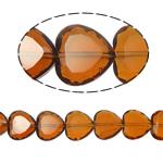 Beads Crystal Heart, Kristal, Zemër, Topaz tymosur, 16x16x8mm, : 1.5mm, :10.5Inç, 18PC/Fije floku,  10.5Inç,