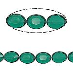 Beads Ovale Crystal, Kristal, asnjë, Smerald, 12x16x8mm, : 2mm, :15.7Inç, 25PC/Fije floku,  15.7Inç,