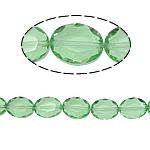 Beads Ovale Crystal, Kristal, asnjë, Peridot, 12x16x8mm, : 2mm, :15.7Inç, 25PC/Fije floku,  15.7Inç,