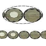 Ovale Kristallperlen, Kristall, hellgrau, 12x16x8mm, Bohrung:ca. 2mm, 25PCs/Strang, verkauft per 15.7 ZollInch Strang