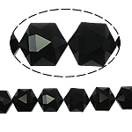 Gjashtëkëndësh Beads Crystal, Kristal, Reaktiv, 13x16x11mm, : 1.5mm, :12Inç, 20PC/Fije floku,  12Inç,