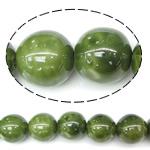 Perlmuttartige Porzellan Perlen, rund, grün, 18mm, Bohrung:ca. 2.5mm, 100PCs/Tasche, verkauft von Tasche