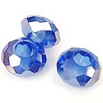 European Beads Crystal, Kristal, Rondelle, pa karrem, Safir, 8-9x14-15mm, : 6mm, 100PC/Qese,  Qese