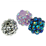 Beads diamant i rremë Rrëshirë, Rrëshirë diamant i rremë, Daulle, asnjë, me diamant i rremë, ngjyra të përziera, 10x12mm, : 1.5mm, 100PC/Qese,  Qese