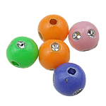 Theks Silver Beads akrilik, Round, theks argjendi, ngjyra të përziera, 6mm, : 1mm, 5500PC/Qese,  Qese