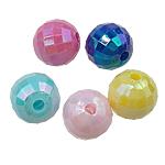 AB-ngjyra akrilik Beads kromuar, Numërator, Ngjyra AB kromuar, ngjyra të forta, ngjyra të përziera, 8mm, : 1.5mm, 1900PC/Qese,  Qese