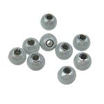 Traumhafte Acrylperlen, Acryl, rund, stumpfnattes Silber, 6mm, Bohrung:ca. 1.5mm, 4330PCs/Tasche, verkauft von Tasche