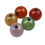 Beads akrilik Mrekulli, Round, ngjyra të përziera, 12mm, : 2.5mm, 530PC/Qese,  Qese