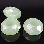 European Beads Crystal, Kristal, Rondelle, pa karrem, Peridot, 8-9x14-15mm, : 6mm, 100PC/Qese,  Qese