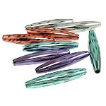 Beads akrilik të përziera, Oval, ngjyra të përziera, 13.50x68mm, : 4.5mm, 80PC/Qese,  Qese