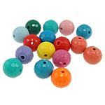 Beads Solid Color akrilik, Round, ngjyra të forta, ngjyra të përziera, 10mm, : 2mm, 820PC/Qese,  Qese