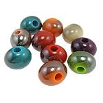 Beads UV akrilik Plating, Rondelle, ngjyra të përziera, 19x15x14mm, : 5mm, 210PC/Qese,  Qese
