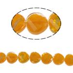 Millefiori Perlen, Kristall, Twist, orange, 14x7mm, Bohrung:ca. 2mm, 25PCs/Strang, verkauft per 13.7 ZollInch Strang