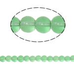 Runde Kristallperlen, Kristall, Peridot, 6mm, Bohrung:ca. 1.5mm, Länge:12 ZollInch, 10SträngeStrang/Tasche, verkauft von Tasche