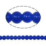 Beads Round Crystal, Kristal, Dark Sapphire, 6mm, : 1.5mm, :11.8Inç, 10Fillesat/Qese,  Qese