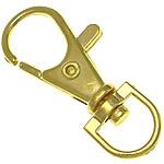 Alloy zink kapje karavidhe kthyeshëm, ngjyrë ari praruar, asnjë, , nikel çojë \x26amp; kadmium falas, 13.50x36.80x4.50mm, : 8.5x5.8mm, 500PC/Qese,  Qese