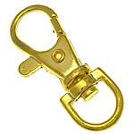 Alloy zink kapje karavidhe kthyeshëm, ngjyrë ari praruar, asnjë, , nikel çojë \x26amp; kadmium falas, 14x38.50x5.50mm, : 6.5x9.2mm, 500PC/Qese,  Qese