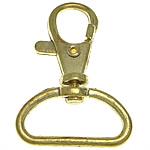 Alloy zink kapje karavidhe kthyeshëm, ngjyrë ari praruar, asnjë, , nikel çojë \x26amp; kadmium falas, 30x42x6.50mm, : 24.8x8.5mm, 200PC/Qese,  Qese