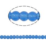 Runde Kristallperlen, Kristall, Saphir, 4mm, Bohrung:ca. 1mm, Länge:11 ZollInch, 10SträngeStrang/Tasche, verkauft von Tasche