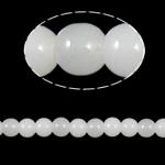Runde Kristallperlen, Kristall, weißer Alabaster, 8mm, Bohrung:ca. 1.5mm, Länge:12 ZollInch, 10SträngeStrang/Tasche, verkauft von Tasche