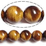 Tigerauge Perlen, rund, natürlich, verschiedene Größen vorhanden, Bohrung:ca. 0.5-1.5mm, verkauft per 15 ZollInch Strang