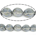Beads pearlized Porcelani, Bicone, gri, 20x14mm, : 2.5mm, 100PC/Qese,  Qese
