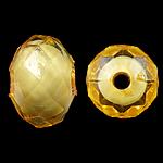 Bead në Beads akrilik Bead, Rondelle, bead bead në, ngjyra të përziera, 10x7mm, : 2mm, 1000PC/Qese,  Qese