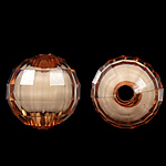 Bead në Beads akrilik Bead, Round, bead bead në, ngjyra të përziera, 10mm, : 2mm, 1000PC/Qese,  Qese