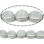Beads pearlized Porcelani, Oval, i praruar, argjend, 20x14mm, : 2.5mm, 100PC/Qese,  Qese