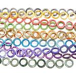 Beads Natyrore Colored Shell, Predhë, Petull e ëmbël në formë gjevreku, asnjë, ngjyra të përziera, 15x3mm, : 1.5mm, :15.5Inç, 10Fillesat/Qese,  Qese