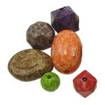 Beads akrilik të përziera, Shape përziera, ngjyra të përziera, 10-44mm, : 2mm, 156PC/Qese,  Qese