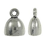 Zink Alloy Cap Fundi, Alloy zink, Shape Tjera, Ngjyra antike argjendi praruar, asnjë, asnjë, , nikel çojë \x26amp; kadmium falas, 10x13x7mm, : 1.5mm, 710PC/KG,  KG