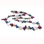 Natürliche Süßwasserperlen Halskette, Natürliche kultivierte Süßwasserperlen, mit Muschel, Klumpen, 20mm, verkauft per 36 ZollInch Strang