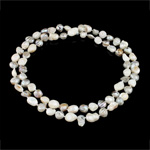 Natyrore ujërave të ëmbla Pearl gjerdan, Pearl kulturuar ujërave të ëmbla, ngjyra të përziera, Një, 9-10mm, :32Inç,  32Inç,