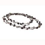 Ujërave të ëmbla Pearl gjerdan Crystal, Pearl kulturuar ujërave të ëmbla, with Kristal, natyror, Një, 9-10mm, :47Inç,  47Inç,