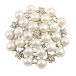 Pearl ujërave të ëmbla karficë, Pearl kulturuar ujërave të ëmbla, Lule, e bardhë, 7-8mm, 49x7mm,  PC
