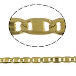 Tunxh Zinxhiri Valentino, ngjyrë ari praruar, asnjë, , nikel çojë \x26amp; kadmium falas, 2x4x0.50mm, 100m/PC,  PC