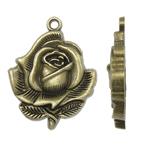 Pendants Zink Alloy Lule, Alloy zink, Ngjyra antike bronz i praruar, asnjë, , nikel çojë \x26amp; kadmium falas, 27.50x35x5mm, : 2mm, 155PC/KG,  KG