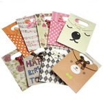 Moda qese dhuratë, Letër, Drejtkëndësh, ngjyra të përziera, 125x165mm, 120PC/Qese,  Qese