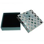 Karton Set bizhuteri Box, Katror, 90x90x30mm, 24PC/Qese,  Qese