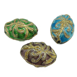 Beads filigran Cloisonne, Oval, asnjë, 13.50x19.50x11mm, : 1.5mm, 20PC/Qese,  Qese