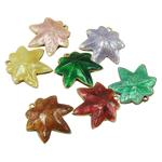Pendants Cloisonne, Gjethe, i përzier, 23x25x6.50mm, : 1.5mm, 20PC/Qese,  Qese