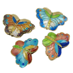 Beads Smooth Cloisonne, Kafshë, 26x19x6.50mm, : 3.5x2.5mm, 20PC/Qese,  Qese