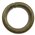 Unaza Jump Iron Hapur, Hekur, Petull e ëmbël në formë gjevreku, Ngjyra antike bronz i praruar, asnjë, , nikel çojë \x26amp; kadmium falas, 0.90x5mm, : 4mm, 12500PC/Qese,  Qese