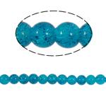Glass Beads kërcitje, Xham, Round, asnjë, blu, 8mm, : 2mm, :31Inç, 105PC/Fije floku,  31Inç,